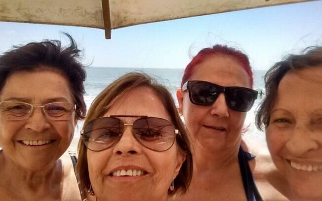 Vanda, Odete, Derlice e Silvia: a selfie que deu certo