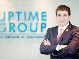 Sagaz. O fundador da Uptime  mineiro de Ipatinga, Sérgio Monteiro, diz que compete no mercado com inovação e resultado