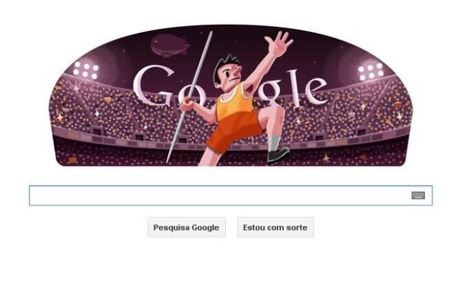 Lançamento de dardo ganhou logotipo do Google