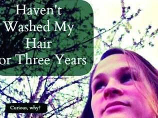 Opção. Jacquelyn Byers adotou estilo natural e há três anos usa apenas água nos fios