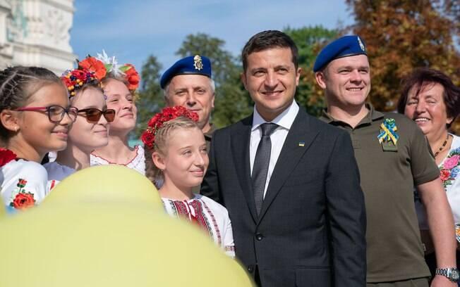 Presidente da Ucrânia Volodimir Zelenski