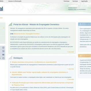eSocial, portal da Receita Federal para cadastramento de patrões e empregados