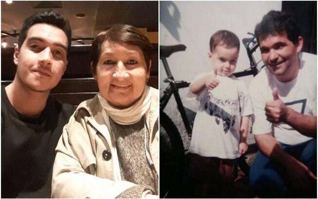 André, 24, vê a avó Sônia, 65, e o avô Basco,65, também como pais, reconhecendo todos os ensinamentos passados a ele