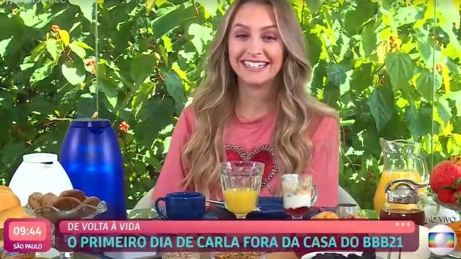 Carla Diaz com Ana Maria Braga