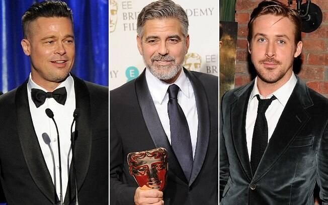 Brad Pitt, George Clooney e Ryan Gosling: referências para quem procura implante de barba