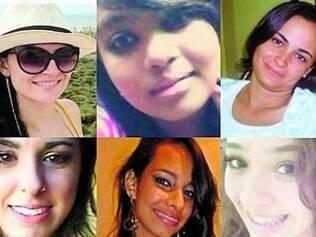 Algumas das vítimas dos assassinatos em série em Goiânia