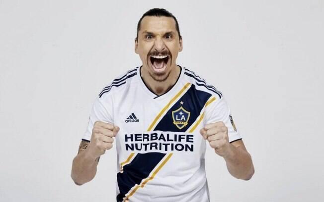 Zlatan Ibrahimovic é jogador do Los Angeles Galaxy