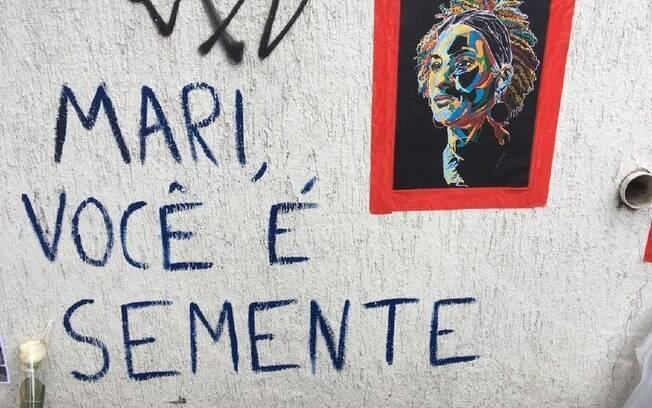 Homenagem a Marielle Franco (PSOL) no Rio de Janeiro; vereadora foi assassinada no dia 14 de março