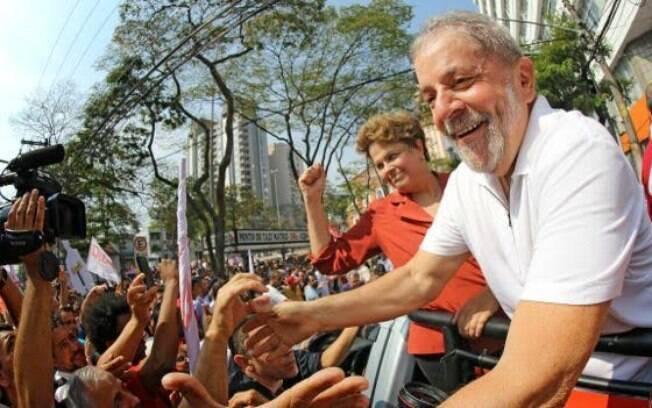 Ex-presidente em ato de campanha de Dilma Rousseff em 2014 em São Bernardo (SP)
