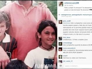 Astro argentino completa 27 anos nesta terça-feira e mulher usou Instagram para prestar homenagem ao marido