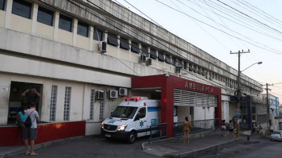Hospital Getúlio Vargas, para onde os PMs foram levados