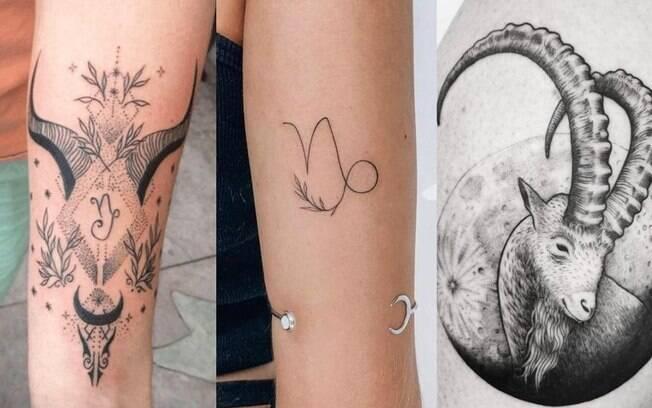 Tatuagem de Capricrnio: 14 modelos de tattoo para se inspirar