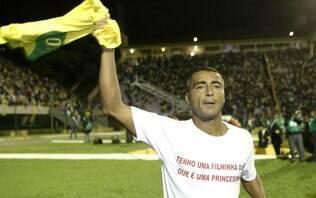 Romário lamenta não ter vestido a camisa do Corinthians durante a carreira