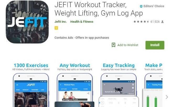 Aplicativos fitness: o Fetfit PRO é um app que conta com diversos tipos de exercícios físicos que podem ser feitos em casa