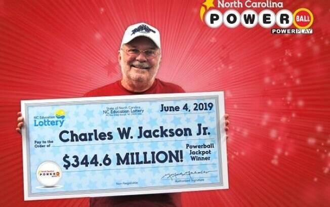 Charles W. Jackson Jr. ganhou U$ 344 milhões de dólares na loteria Powerball, dos Estados Unidos