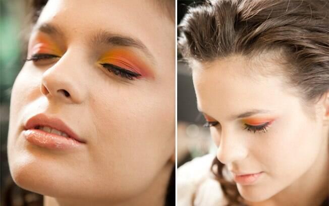 Para as noivas mais desencanadas: muito colorido na sombra e delineador