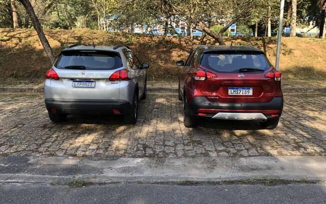 Peugeot 2008 e Nissan Kicks. Foto: Divulgação