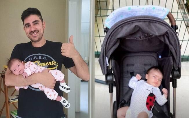 Marcelo Adnet mostra uma foto da filha Alice