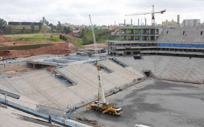Arena do Corinthians em Itaquera já ganha  cara de um verdadeiro estádio