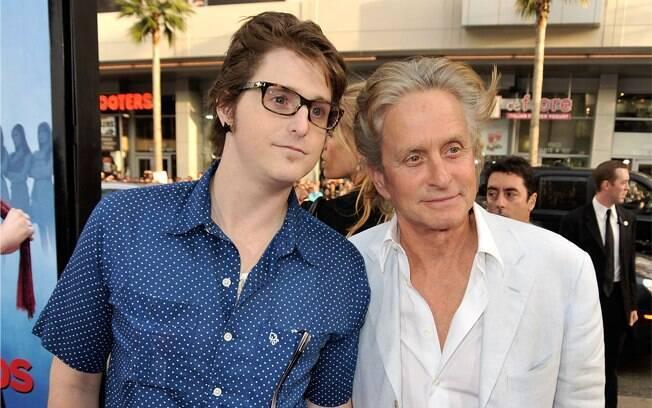 Cameron Douglas com o pai, Michael Douglas