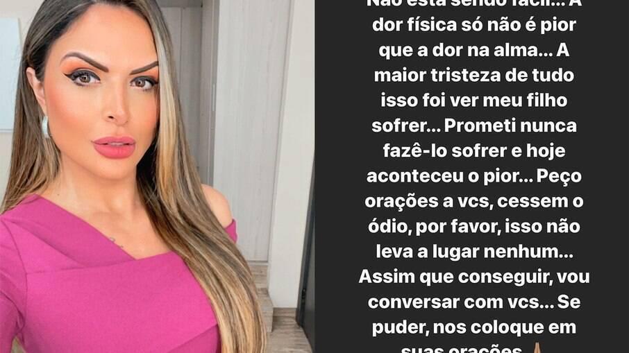 Silvye Alves escreve desabafo após suposta agressão do ex