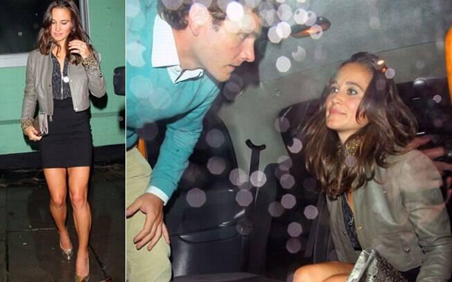Pippa Middleton foi acompanhada do namorado Alex Loudon
