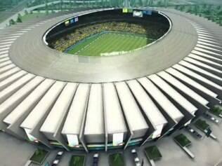 No trailer, Mineirão aparece com bandeiras de Colômbia e Grécia, seleções que se enfrentam no primeiro jogo do Estádio pela Copa do Mundo
