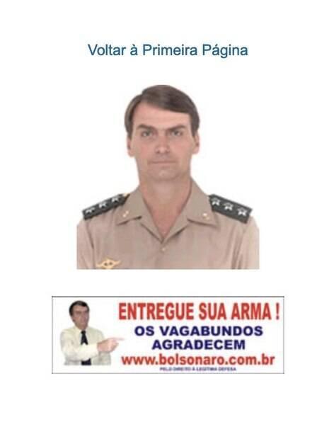 Foto de Bolsonaro nos sites