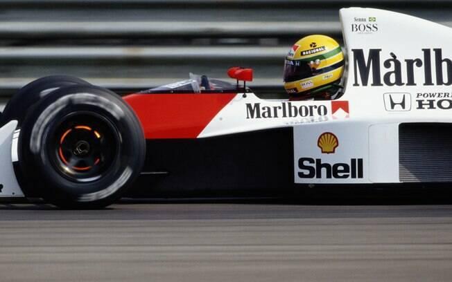 Ayrton Senna brilhou pela McLaren