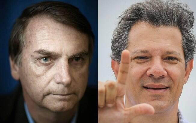 Pesquisa para presidente mostra Jair Bolsonaro (PSL) 14 pontos à frente de Fernando Haddad (PT)