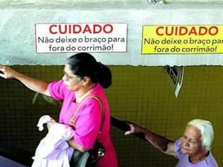 Cartazes mostrando o perigo foram instalados recentemente