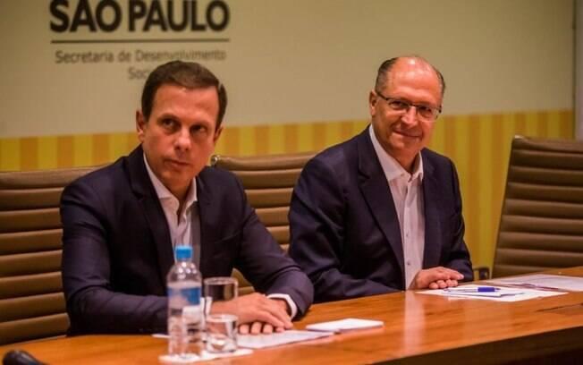 O prefeito João Doria e o governador de São Paulo, Geraldo Alckmin, ganhariam do petista se as eleições fossem hoje