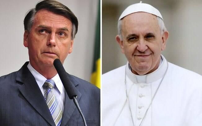 Jair Bolsonaro e Papa Francisco