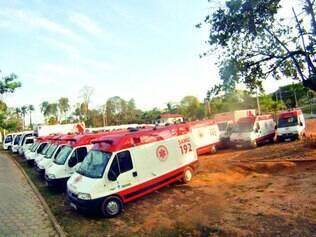 Descaso. Ambulâncias seminovas foram enviadas para Minas para atender região chamada de Macro Centro, com 103 municípios