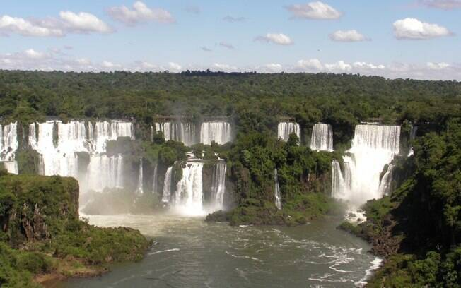 As Cataratas do Iguaçu podem ser admiradas de diversos ângulos