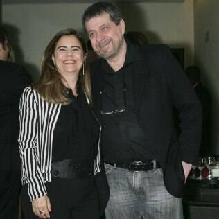 Mayara Magri e Flavio Galvão na pré-estreia de 'O Candidato Honesto' em SP