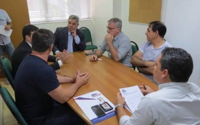 Representantes da Federação Nacional dos Atletas Profissionais de Futebol (Fenapaf)