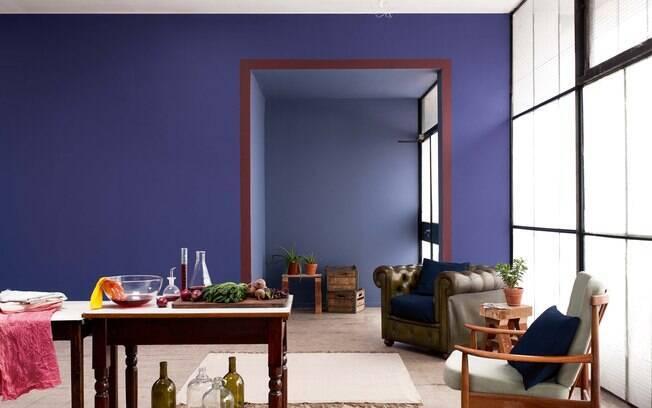Azul Violeta 233 Tend 234 Ncia De Cor Para A Casa Veja Nossa