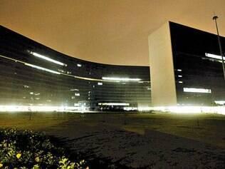 Acesa.  Cidade Administrativa estava parcialmente iluminada na última segunda fora do expediente