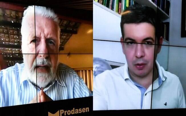 Jaques Wagner (à esq.) e Randolfe Rodrigues apresentaram requerimento à Comissão de Controle das Atividades de Inteligência para ouvir ministro