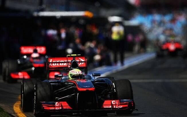 A dupla da McLaren também merece atenção na  temporada, mas ficou no meio da classificação.  Button foi 11º e Perez ficou com 13º
