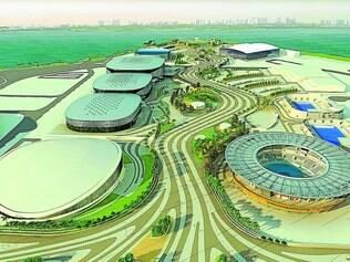 Projeção. Expectativa de como vai ficar o Parque Olímpico da Barra da Tijuca, que terá instalações para realização de 15 modalidades