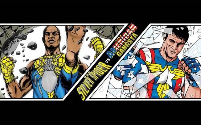 Anderson Silva e Chael Sonnen viraram  super-heróis em história em quadrinhos do UFC