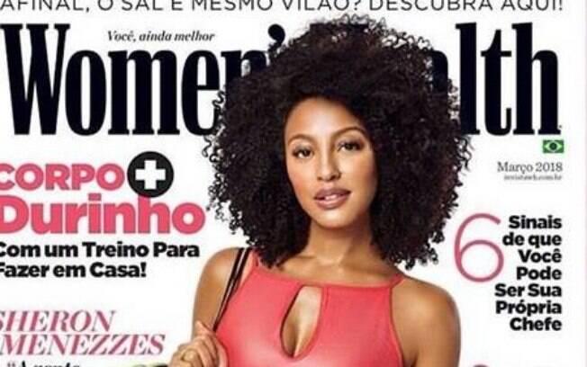 Bela e cheia de atitude, a atriz Sheron Menezzes estrela a capa da revista Women's Health