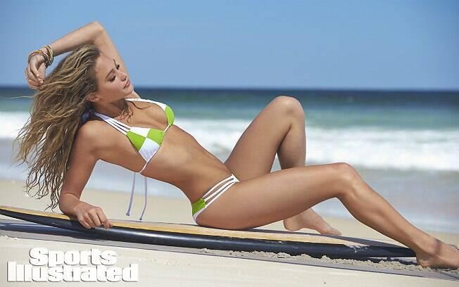 Hannah Davis em seu ensaio para a edição especial da Sports Illustrated de 2014