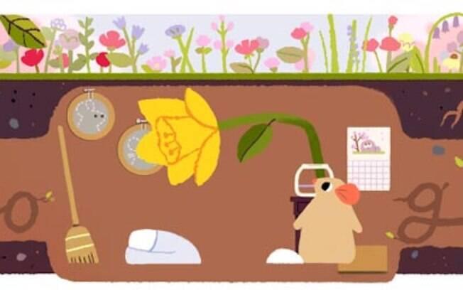 Doodle: Buscador celebra a chegada na primavera com animação
