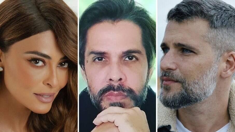 Juliana Paes, Newton Dias e Bruno Gagliasso