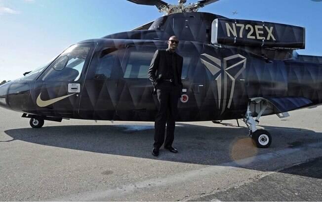 Kobe Bryant e seu helicóptero