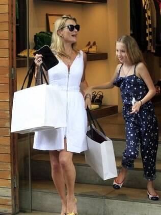 Kate Moss e a filha no Rio