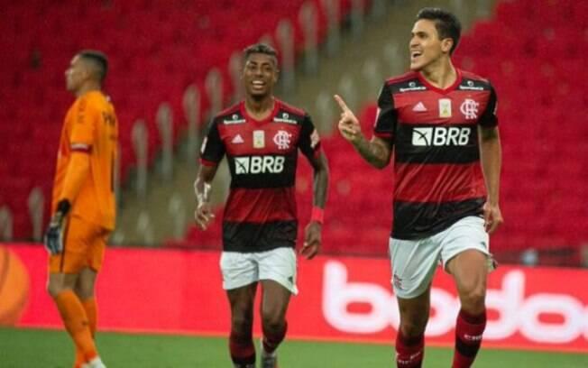 Pedro e Bruno Henrique, destaques do Flamengo